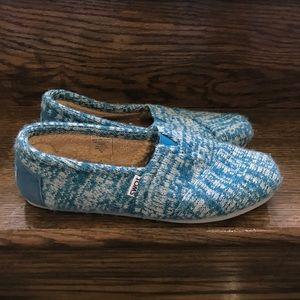 Women's Toms Faux Fur Lined Classic Slip on Shoes